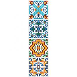W 10628 Předloha ONLINE - Záložka v etno stylu III