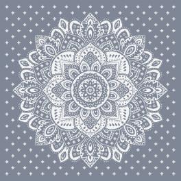 ZU 10623 Vyšívací sada - Ubrus s dekorativní růžicí