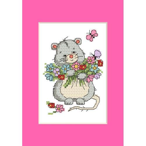 ZU 10285 Vyšívací sada - Přání - Myška