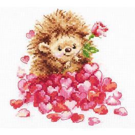 Vyšívací sada - Zamilovaný ježek