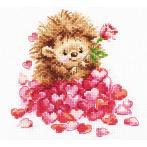 ALI 0-211 Vyšívací sada - Zamilovaný ježek