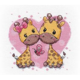 Vyšívací sada - Zamilované žirafy
