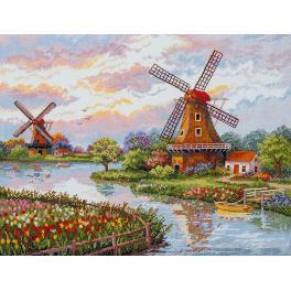 Vyšívací sada - Dánské větrné mlýny