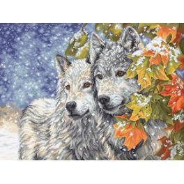 Vyšívací sada - Brzký sních a vlci