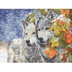 LETI 913 Vyšívací sada - Brzký sních a vlci