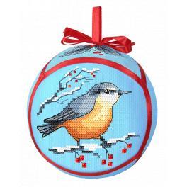 ZU 10290 Vyšívací sada - Koule s ptáčkem