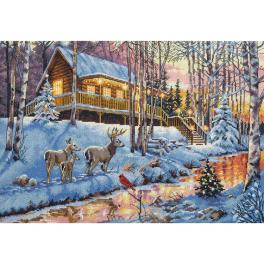 Vyšívací sada - Dům v lese
