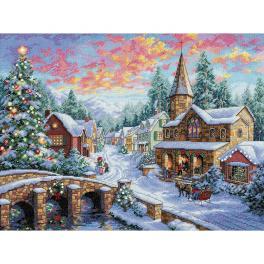 Vyšívací sada - Vesnice o vánocích