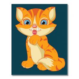 Sada pro malování podle čísel - Kotě