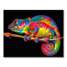 Sada pro malování podle čísel - Chameleón