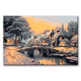 CZ AB607 Sada pro malování podle čísel - Most přes zamrzlou řeku