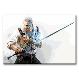 Sada pro malování podle čísel - Zaklínač s mečem