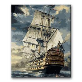 Sada pro malování podle čísel - Loď v bouři