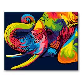 Sada pro malování podle čísel - Barevný slon