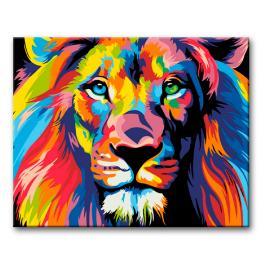Sada pro malování podle čísel - Barevný lev II