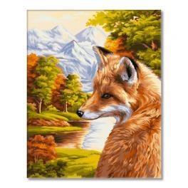 WD H055 Sada pro malování podle čísel - Liška a podzim