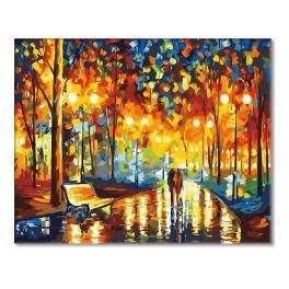Sada pro malování podle čísel - Večerní procházka v dešti