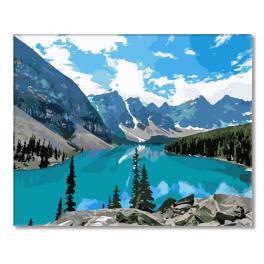 Sada pro malování podle čísel - Horské jezero