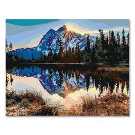 CZ 20016 Sada pro malování podle čísel - Východ slunce nad horami