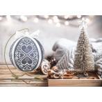 W 10639 Předloha ONLINE pdf - Vánoční koula s bílou arabeskou