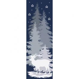 AN 10646 Předtištěná aida - Sněžný jelen