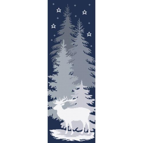 Vyšívací sada s potiskem - Sněžný jelen