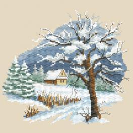 ZN 10297 Vyšívací sada s potiskem - Roční období - Nádherná zima