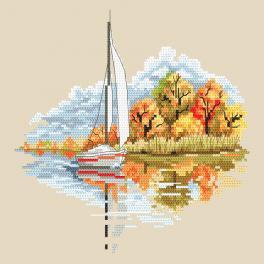 ZN 10296 Vyšívací sada s potiskem - Roční období - Zlatý podzim