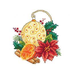 Vyšívací sada - Vánoční koule