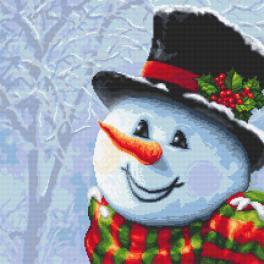 Předloha - Sněhulák malovaný jehlou