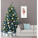 K 10444 Předtištěná kanava - Vánoční krmítko