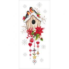 Vyšívací sada - Vánoční krmítko