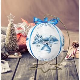 Předloha ONLINE pdf - Vánoční koule s krajinou