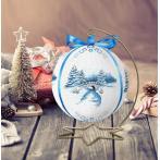 Vyšívací sada - Vánoční koule s krajinou