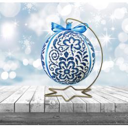 ZU 10640 Vyšívací sada - Porcelánová vánoční koula