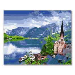 GX33056 Malování podle čísel - Vyhlídka na horské jezero