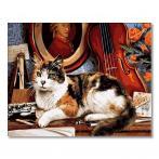 GX4137 Malování podle čísel - Kocour a housle