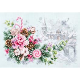 MN 100-244 Vyšívací sada - Vánoční sentiment