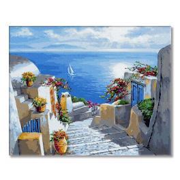 PC4050225 Malování podle čísel - Schody do moře