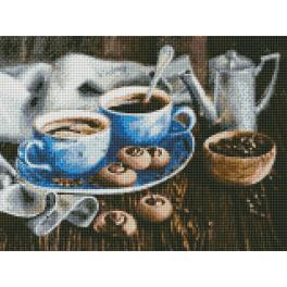 AZ-1424 Diamond painting sada - Příjemná chvíle s kávou