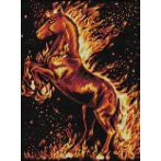 M AZ-1850 Diamond painting sada - Kůň v plamenech