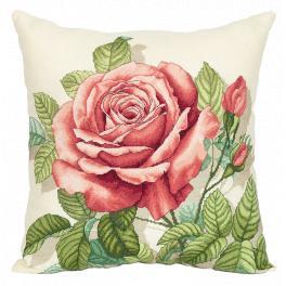PAPD 7116 Vyšívací sada - Polštář - Vintage růže