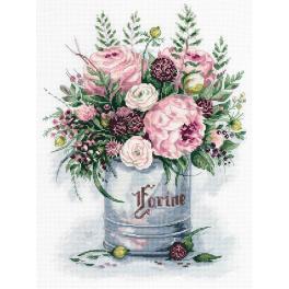 PAC 7050 Vyšívací sada - Akvarelová kytice