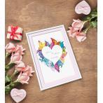 AN 10650 Předtištěná aida - Srdce v motýlech