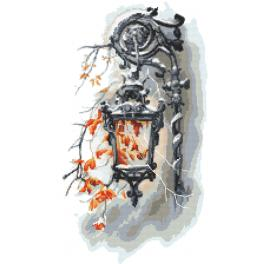 AN 10447 Předtištěná aida - Stará lucerna