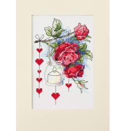 ZU 10303 Vyšívací sada - Valentýnské přání s lucernou