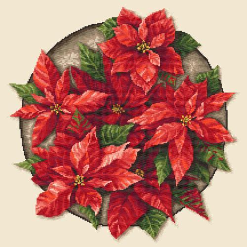 AN 10648 Předtištěná aida - Vánoční hvězda