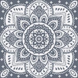 W 10623-03 Předloha ONLINE pdf - Ubrousek s dekorativní růžicí