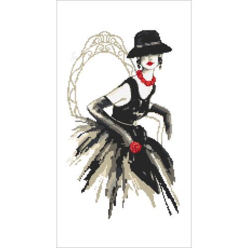 GC 10426 Předloha - Černá dáma s růží