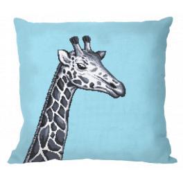 ZU 10657-01 Vyšívací sada - Polštář - Černo-bílá žirafa